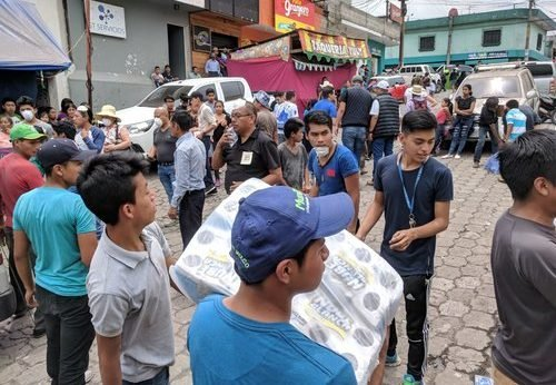 disaster relief after Fuego volcano crisis in Guatemala