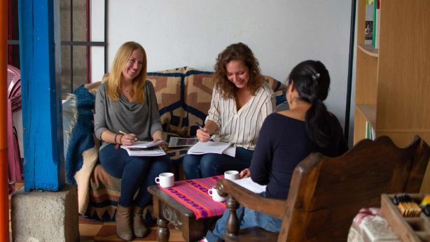 Pionero team in meeting with local Guatemalan nonprofit