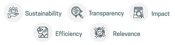 Pionero Philanthropy 5 pillars