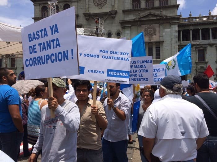 Guatemalans protest the country's widespread corruption.