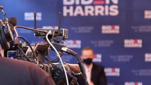 TV Camera Biden Hariss